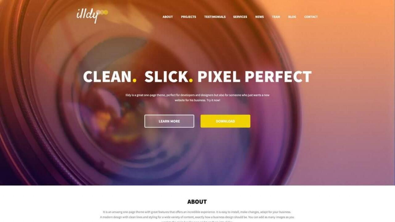 Illdy - бесплатная лэндинг тема WordPress