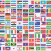 195 плоских иконок флагов стран